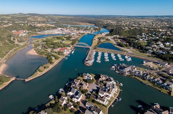 Port Alfred is a whale watching town in South Africa.