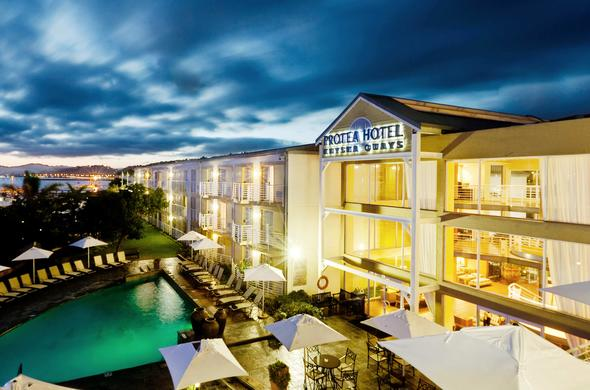 Exterior view of Protea Hotel Knysna Quays.